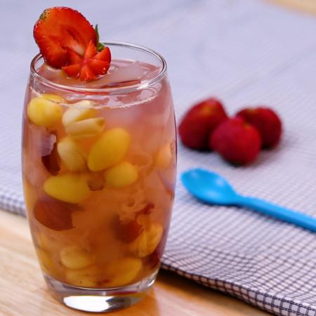 Chè bạch quả hạt sen hương dâu